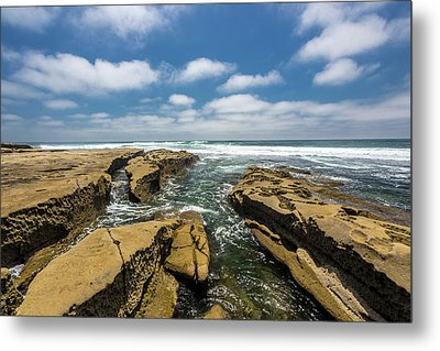 Rocks And Puffies Metal Print