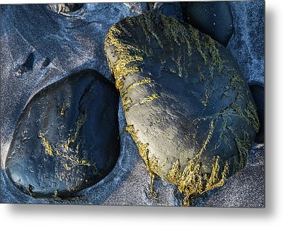 Metal Print featuring the photograph Rocks From Talisker Beach 2 by Davorin Mance