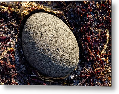 Metal Print featuring the photograph Rocks From Talisker Beach 4 by Davorin Mance