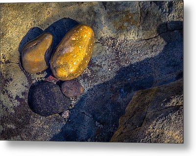 Rocks In Tidepool Metal Print