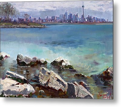 Rocks N' The City Metal Print by Ylli Haruni