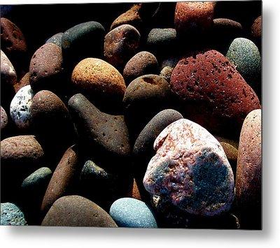 Rocks Of Lake Superior Metal Print by Bridget Johnson