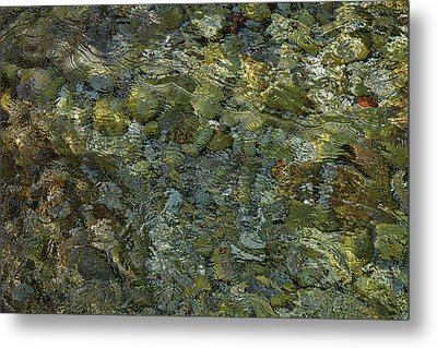 Metal Print featuring the photograph Rocks Under The Soca River #2 - Slovenia by Stuart Litoff