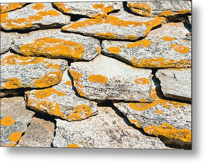 Rocks With Lichen Metal Print by Tom Gowanlock