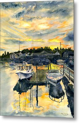 Rocktide Sunset Metal Print