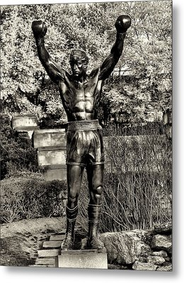 Rocky Balboa In Sepia Metal Print by Bill Cannon