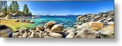 Rocky Cove Sand Harbor Metal Print