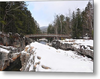 Rocky Gorge, Winter  Metal Print by Catherine Reusch Daley