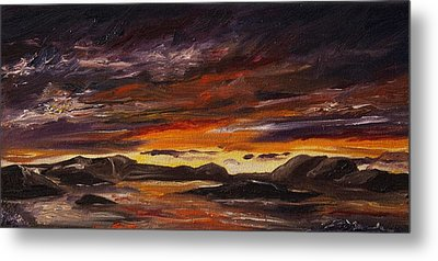 Metal Print featuring the painting Rocky Landscape by Diane Daigle