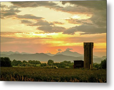 Rocky Mountain Front Range Country Landscape Metal Print