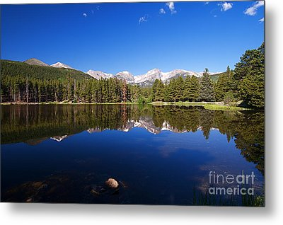 Rocky Mountain Lake In A Colorado National Park Metal Print by ELITE IMAGE photography By Chad McDermott