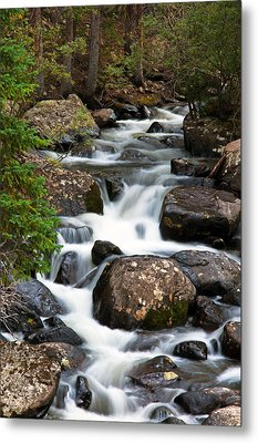 Rocky Mountain National Park Cascade  Metal Print