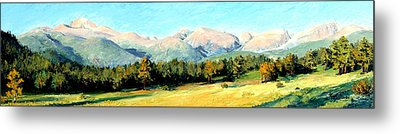 Rocky Mountain Panoramic Metal Print by Mary Giacomini