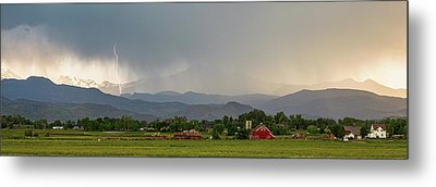 Metal Print featuring the photograph Rocky Mountain Storming Panorama by James BO Insogna