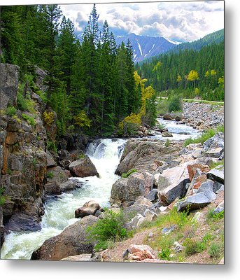 Rocky Mountain Stream Metal Print by John Lautermilch