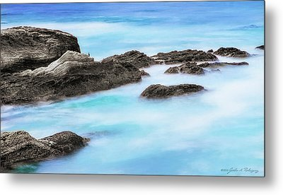 Metal Print featuring the photograph Rocky Ocean by John A Rodriguez