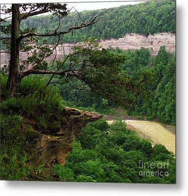 Rocky Overhang Metal Print by Deborah Johnson