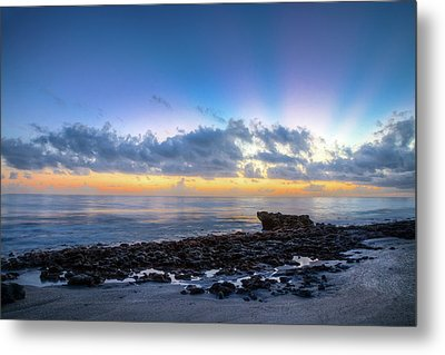 Metal Print featuring the photograph Rocky Reef At Low Tide by Debra and Dave Vanderlaan