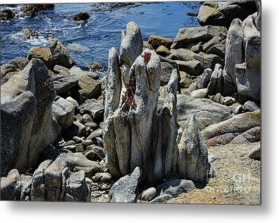Rocky Remains At Carmel Point Metal Print