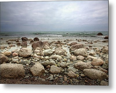 Metal Print featuring the photograph Rocky Shore by Stefan Nielsen