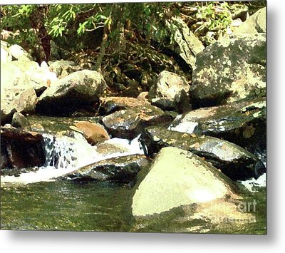 Metal Print featuring the mixed media Rocky Stream 5 by Desiree Paquette