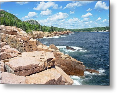 Rocky Summer Seascape Acadia National Park Photograph Metal Print by Keith Webber Jr