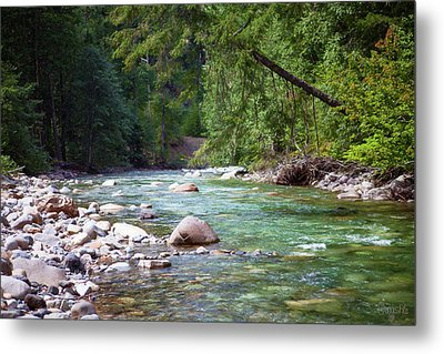 Rocky Waters In The North Cascades Landscape Photography By Omas Metal Print by Omaste Witkowski