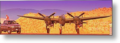 Rod Lewis' Lockheed Lightning  Glacier Girl       Metal Print by Gus McCrea
