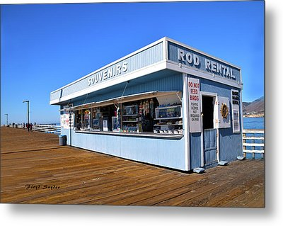 Metal Print featuring the photograph Rod Rental At The Pismo Beach Pier by Floyd Snyder