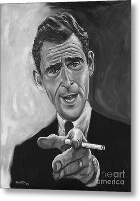 Rod Serling Metal Print by Mark Tavares