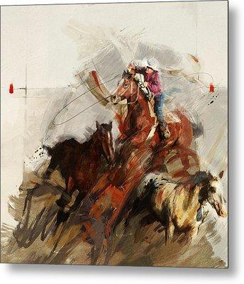 Rodeo 37 Metal Print by Maryam Mughal