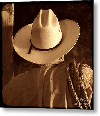 Rodeo Cowboy Metal Print by American West Legend By Olivier Le Queinec