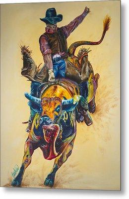 Rodeo Wild Metal Print by Teshia Art
