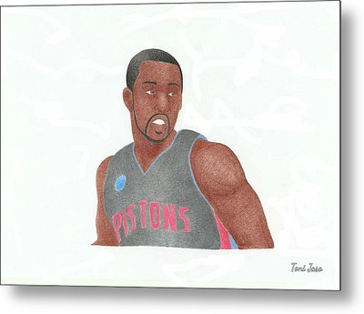 Rodney Stuckey Metal Print by Toni Jaso