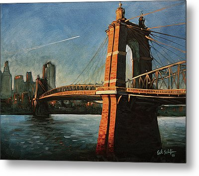 Roebling Bridge No.1 Metal Print by Erik Schutzman