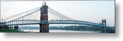 Roebling Bridge Metal Print