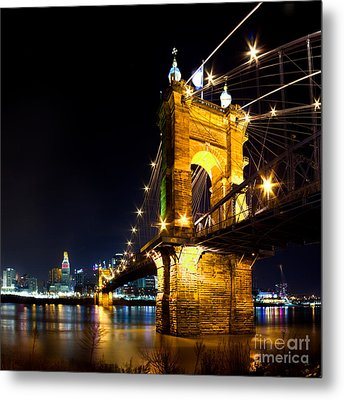 Roebling Brodge Metal Print by Twenty Two North Photography