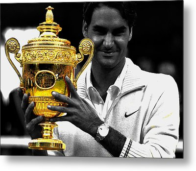 Roger Federer 2a Metal Print by Brian Reaves