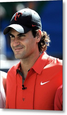 Roger Federer In Attendance For Arthur Metal Print by Everett