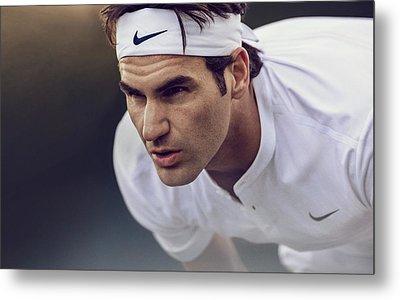Roger Federer Wimbledon  Metal Print