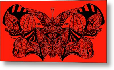 Roger The Butterfly Metal Print by Kenal Louis