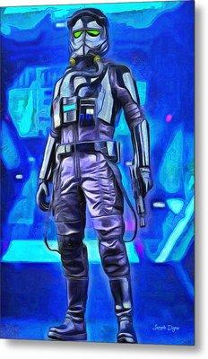 Rogue One Pilot - Da Metal Print by Leonardo Digenio