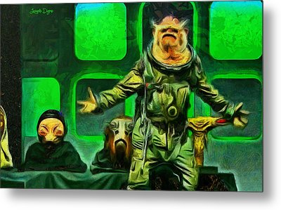 Rogue One Space Monkey - Da Metal Print