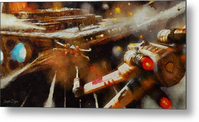 Rogue One X-fighter - Pa Metal Print