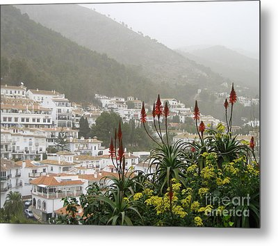 Rojo In The Pueblos Blancos Metal Print by Suzanne Oesterling