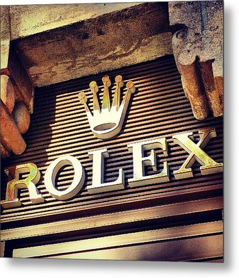 #rolex #watch #igdaily #android #ighub Metal Print by Tommy Tjahjono