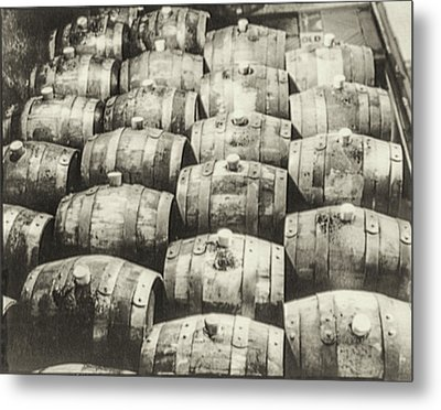 Roll Out The Barrel Metal Print by Bill Cannon