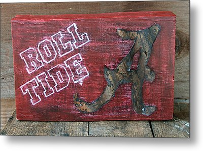Roll Tide - Large Metal Print by Racquel Morgan