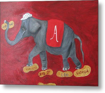 Roll Tide Metal Print by Brenda Luczynski