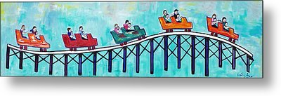 Metal Print featuring the painting Roller Fun by Patricia Arroyo